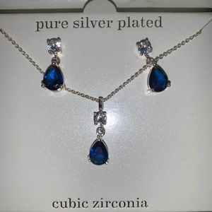 Sapphire Earring and Necklace Set!!